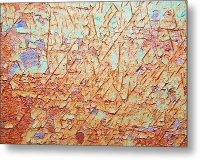 Abstract  Rust And Metal Series Metal Print by Mark Weaver