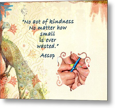 Act Of Kindness Metal Print by Linda Cox