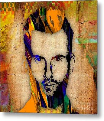 Adam Levine Maroon 5 Painting Metal Print by Marvin Blaine