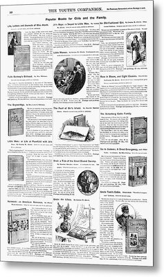 Advertisement Books, 1890 Metal Print