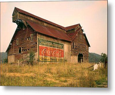 Advertising Barn Metal Print by Gary Grayson