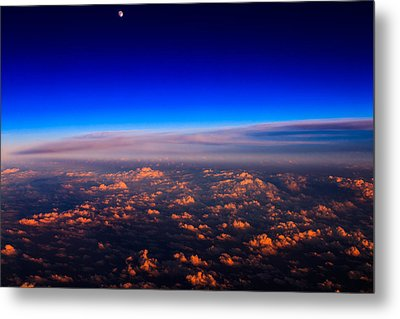 Aerial Moonrise Metal Print by Jonathan Gewirtz