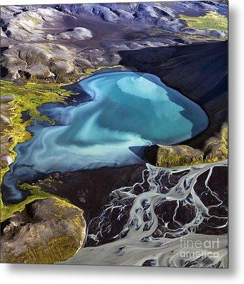 Metal Print featuring the photograph Aerial Photography by Gunnar Orn Arnason