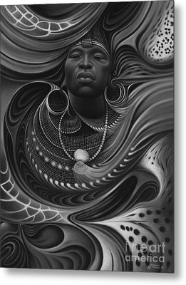African Spirits I Metal Print