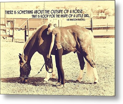 After The Competition Quote Metal Print by JAMART Photography