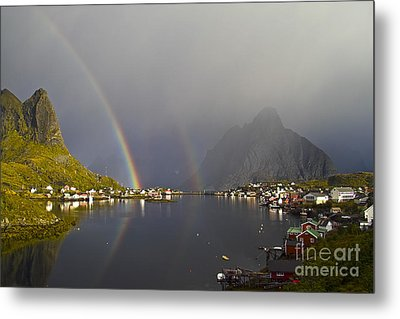 After The Rain In Reine Metal Print by Heiko Koehrer-Wagner