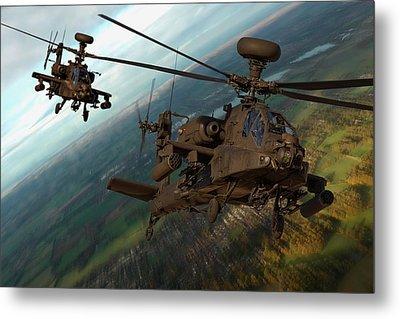 2 Ah64 Apache Metal Print