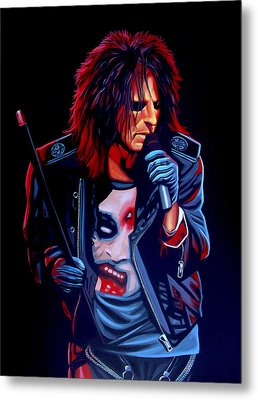 Alice Cooper  Metal Print by Paul Meijering
