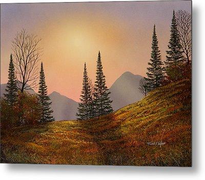 Alpine Sunset Metal Print by Frank Wilson