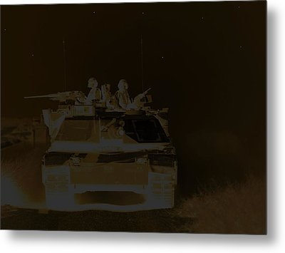 2 Am  Night Patrol On A Lonely Road Metal Print