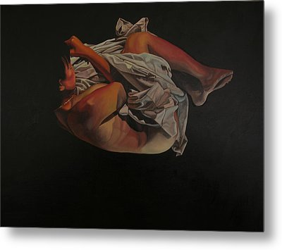 Metal Print featuring the painting 2 Am by Thu Nguyen
