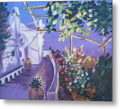 Metal Print featuring the painting Amalfi Evening by Julie Todd-Cundiff