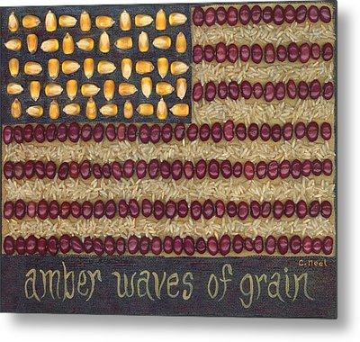 Amber Waves Of Grain Metal Print by Carol Neal