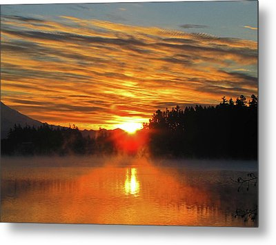 Metal Print featuring the photograph American Lake Sunrise by Tikvah's Hope