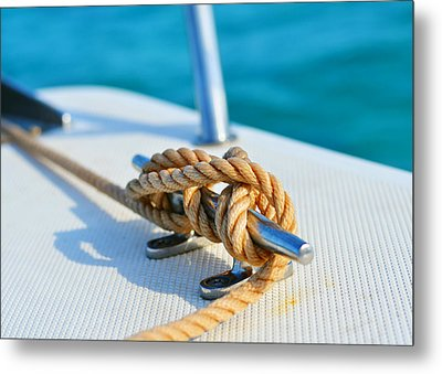 Anchor Line Metal Print by Laura Fasulo