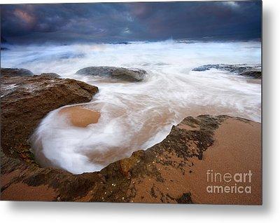 Angry Sea Metal Print by Mike  Dawson