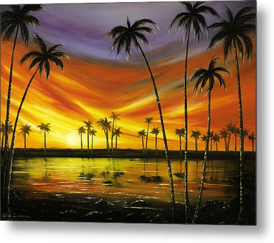 Another Sunset In Paradise Metal Print by Gina De Gorna