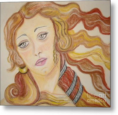 Metal Print featuring the painting Aphrodite Goddess Of Love by Lori  Lovetere