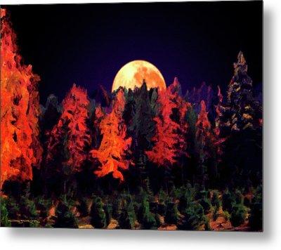 Apple Hill Moonrise Metal Print