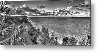 Arcadia Overlook In Black And White Metal Print by Twenty Two North Photography