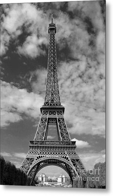 Architectural Standout Bw Metal Print