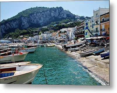 Metal Print featuring the photograph Arrival To Capri  by Dany Lison
