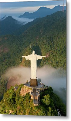 Art Deco Statue Of Jesus, Known Metal Print