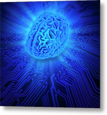 Artificial Intelligence Metal Print