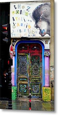 Artistic Door In Paris France Metal Print by Richard Rosenshein