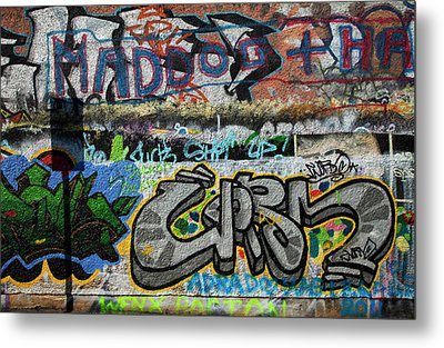 Artistic Graffiti On The U2 Wall Metal Print by Panoramic Images