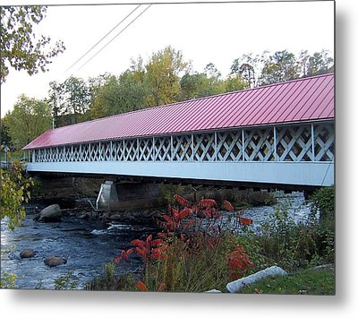 Ashuelot Covered Bridge Metal Print by Catherine Gagne