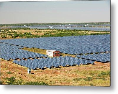 Asia's Largest Solar Power Station Metal Print by Ashley Cooper