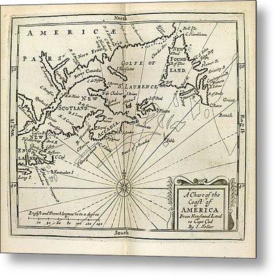 Atlas Maritimus Metal Print by British Library