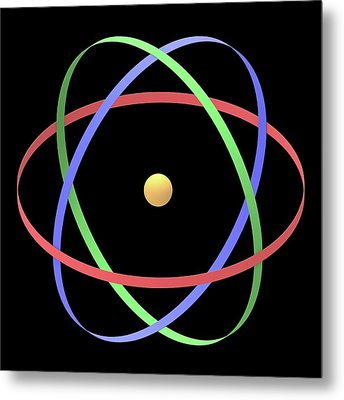 Atomic Structure Metal Print by Alfred Pasieka
