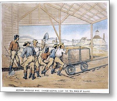 Australia Gold Mine, 1867 Metal Print by Granger