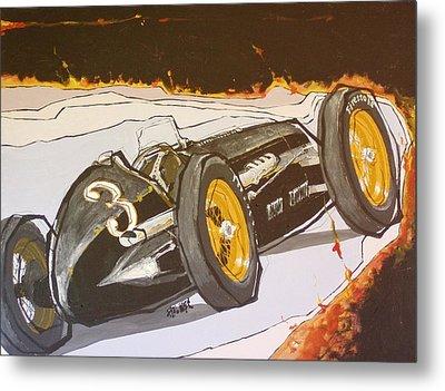 Automobile Racing Metal Print by Paul Guyer