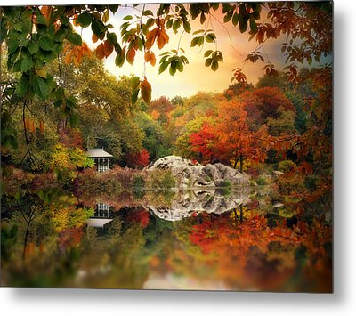 Autumn At Hernshead Metal Print by Jessica Jenney