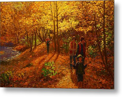 Autumn Bush Creek Track  Metal Print