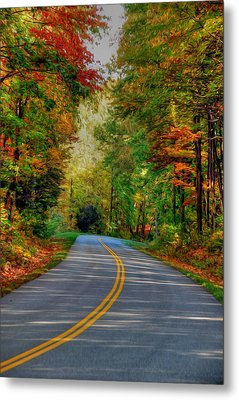 Metal Print featuring the digital art Autumn Drive by Kelvin Booker