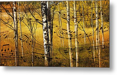Autumn Sonata Metal Print by Theresa Tahara