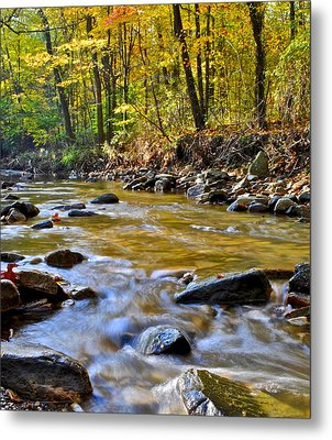 Autumn Stream Metal Print by Frozen in Time Fine Art Photography