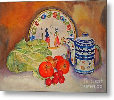 Metal Print featuring the painting Back From Market by Beatrice Cloake