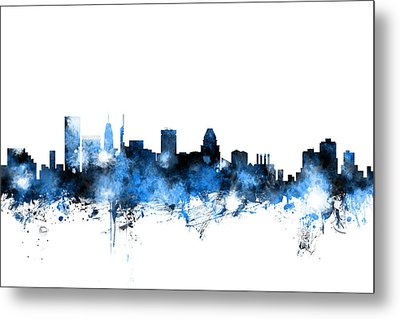 Baltimore Maryland Skyline Metal Print