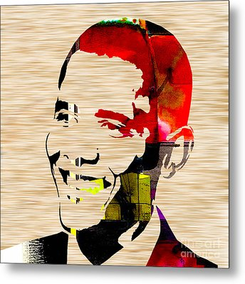 Barack Obama Metal Print by Marvin Blaine