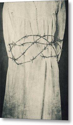 Barbed Wire Metal Print by Joana Kruse