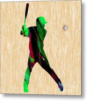 Baseball Art Metal Print by Marvin Blaine