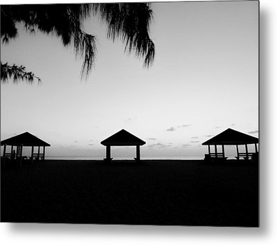 Metal Print featuring the photograph Beach Huts by Amar Sheow
