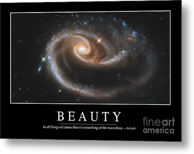 Beauty Inspirational Quote Metal Print by Stocktrek Images