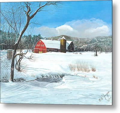 below freezing in New England Metal Print by Stuart B Yaeger