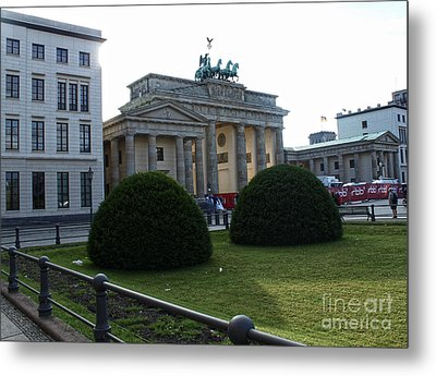 Berlin - Brandenburg Gate Metal Print by Gregory Dyer